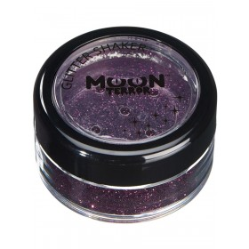 Moon Terror Halloween Glitter Shakers Purple