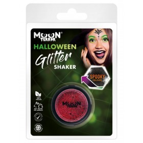 Moon Terror Halloween Glitter Shakers Red
