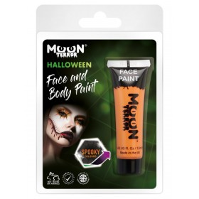 Moon Terror Halloween Face & Body Paint Orange