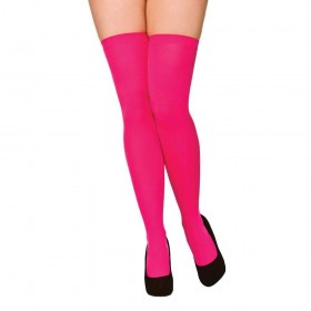 Thigh Highs - Hot Pink Stockings