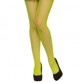 Tights - Fishnet / Neon Green Tights