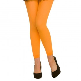 Tights - Footless / Neon Orange Tights