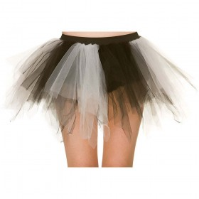 Shredded Tutu - White / Black Tutus
