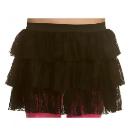 80's Lacy Ra-Ra Skirt - BLACK Accessory (1980)