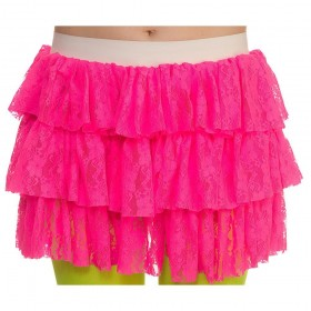 80's Lacy Ra-Ra Skirt - HOT PINK Accessory (1980)