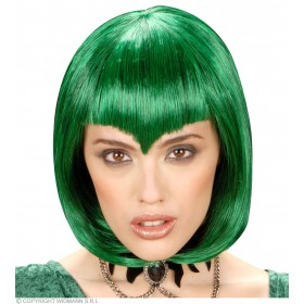 Gothic Vamp Wig Green - Fancy Dress (Halloween)