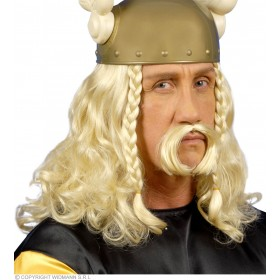 Gaulois Wig With Moustache - Fancy Dress