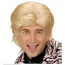 Wet Look Hair Man Wig - Blonde - Fancy Dress