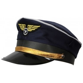 Airline Pilot Hat Fancy Dress (Pilot/Air)
