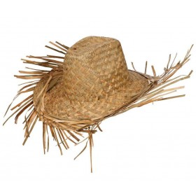 Adult Straw Hawaiian/Beachcomber Hat Fancy Dress Accessory