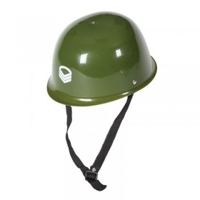 Mens Army Helmet (Plastic) Hats - (Green)