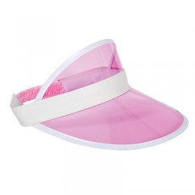 Adult Unisex Casino / Pub Golf Visor Pink Hats - (Pink)