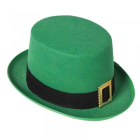 Unisex St Patrick - Leprechaun Top Hat Hats - (Green)