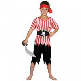 Boys High Seas Pirate Costume Fancy Dress (Pirates)