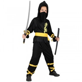 Boys Dragon Ninja Costume Fancy Dress (Ninja)