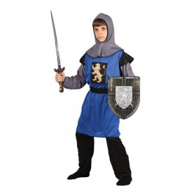 Boys Medieval Knight Medieval Outfit - (Blue)