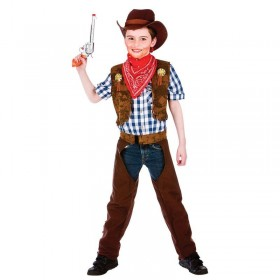 Boys Wild West Cowboy Cowboys/Native Americans Outfit - (Brown)