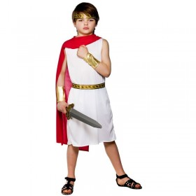 Boys Roman Boy Roman Outfit - (White)