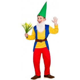 Boy'S Funny Garden Gnome Fancy Dress Costume