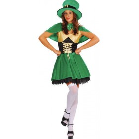 Lucky Leprechaun Fancy Dress Costume Ladies (Cultures)
