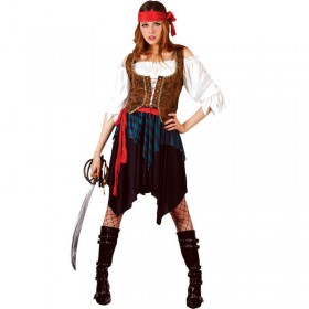 Caribbean Pirate Fancy Dress Costume Ladies (Pirates)
