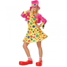 Ladies Sexy Clowning Around Circus Girl Fancy Dress Costume