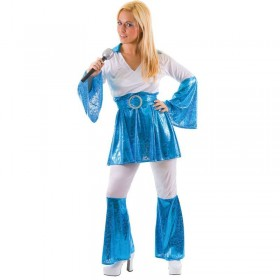Ladies 70'S Mamma Mia Disco Fancy Dress Costume