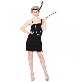 Ladies Showtime Flapper Girl - Black Costume (1920S)