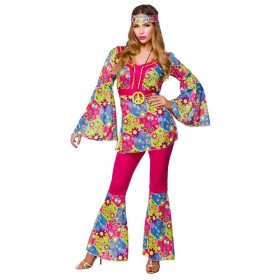 Ladies Feelin Groovy Disco Outfit - (Multicolour)