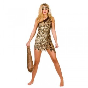 Ladies Prehistoric Cute Cave Girl Fancy Dress Costume