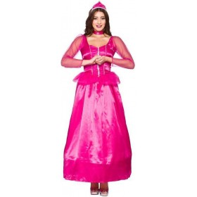 Ladies Pink Darling Princess Fancy Dress Costume