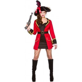 Ladies Blackheart Pirate Fancy Dress Costume