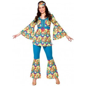 Ladies 60'S Funky Hippy Chick Fancy Dress Costume