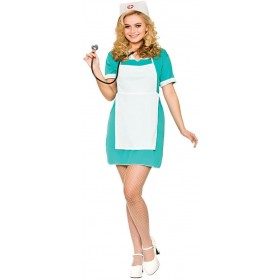Ladies E.R Nurse Fancy Dress Costume