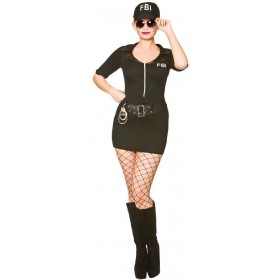 Ladies FBI Frisky Body Inspector Fancy Dress Costume