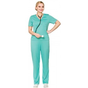 Ladies E.R Surgeon Fancy Dress Costume