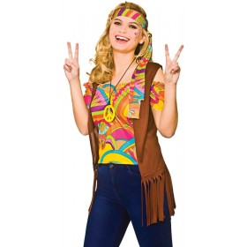 Ladies 60's Cool Hippie Fancy Dress Outfit