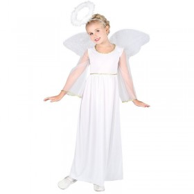 Girls Angel Costume Fancy Dress (Fairy Tales)