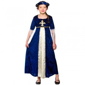 Girls Regal Princess Royal Outfit - (Blue)