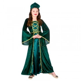 Girls Green Tudor/Maid Marion Medieval Princess Fancy Dress Costume
