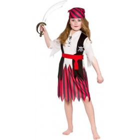 Girls Island Shipwreck Pirate Fancy Dress Costume