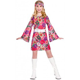 Girls 60'S Retro Gogo Girl Fancy Dress Costume