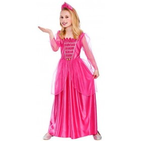 Girls Pink Darling Princess Fancy Dress Costume
