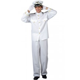 Naval Officer Fancy Dress Costume Mens (Sailor)