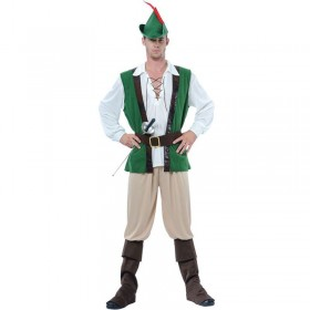 Robin Hood Fancy Dress Costume Mens (Medieval)