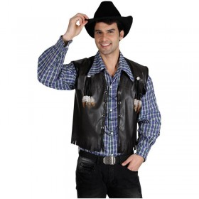 Deluxe Cowboy Waistcoat  Fancy Dress (Cowboys/Native Americans)