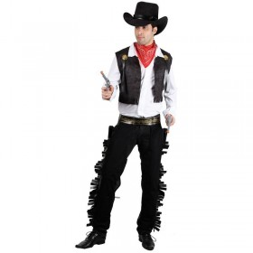 Mens Wild West Cowboy Costume Fancy Dress (Cowboys/Native Americans)
