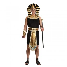 Mens Egyptian King Egyptian Outfit (Black, Gold)