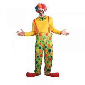 Mens Funny Clown Clowns Outfit (Multicolour)