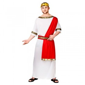 Mens White Ancient Roman Emperor Fancy Dress Costume